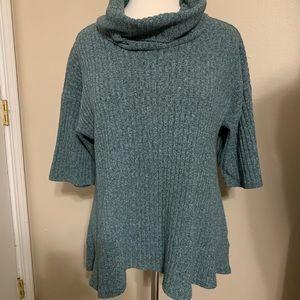 SONOM turquoise Cowl neck Sweater